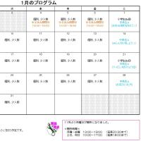 平成29年1月カレンダー