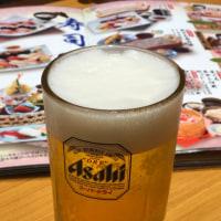 生ビール、赤兎馬、竹鶴にかに釜めし