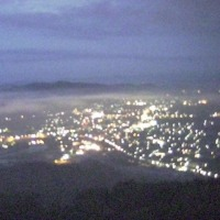 梅雨の合間の霧の海