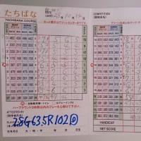 今日のゴルフ挑戦記(65)/新千葉CC「たちばな」アウト→イン(ベント)