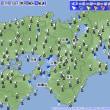 7月27日 アメダスと天気図。
