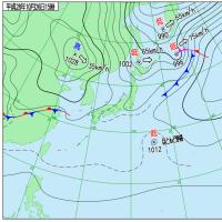 10月26日 アメダスと天気図。