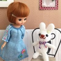 キャロットトップ★編みぐるみウサギ