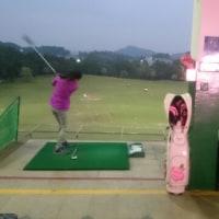 明日は、ゴルフコンペ  チョット打って来ました。