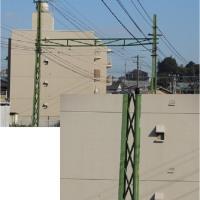 広電宮島線架線の電柱