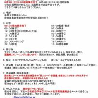 ★29年度愛知県ラグビースクール中学生選抜練習会強化合宿春★