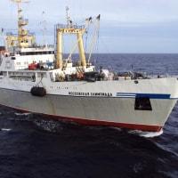 """北クリール""""オケアンルイブフロート""""が1万6,000トンのイカを生産"""