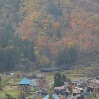 チョット前の撮影から、11月9日撮影 飯山線 SL試運転より その6 西大滝俯瞰より
