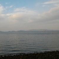 島滞在翌日の朝散歩