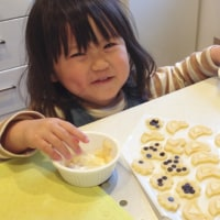 3歳  憧れの親子クッキー作り