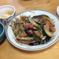 朝食 20161018 茄子味噌炒め