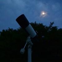 雲間から望遠鏡で木星を見てみる