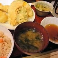 穴子と野菜の天プラ定食 竹酔