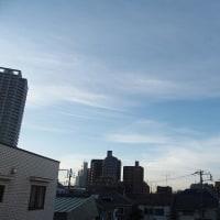 今朝(2月22日)の東京のお天気:晴れ?、(2月の作品:祈りの像)