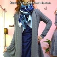 今から春までおすすめ。軽く羽織るアウター風、厚めロングカーディガン・フランスイタリア製です