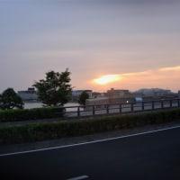 夕焼けジョグ。山陰の梅雨ジョグ8