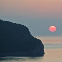 ストロベリームーンよりもイチゴに見えた夕日