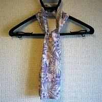 すごく簡単なスカーフを楊柳でも作りました
