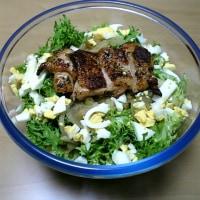 夕飯にサラダを作りました