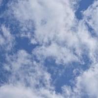 まばらな雲・・・