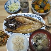 鯖の干物で夕ご飯