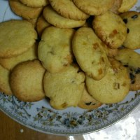 夜からクッキー作り