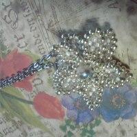 シルバーのお花ネックレス♪