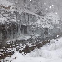 木曽町雪景色