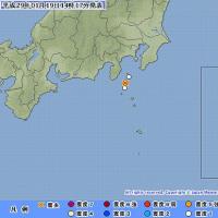 2017年01月19日(木) 14時13分 - 新島・神津島近海 M3.2 (最大震度1) 深さ 約10km