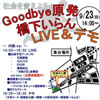9/23 Goodbye原発!橋下いらん!LIVE&デモ