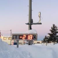 がっちりシバレた -21.8℃