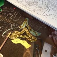 ビーズ刺繍とアリワーク、、、step1new