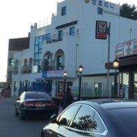江陵のカフェ通りに来ています!