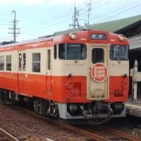 岡山の列車(姫新線開業80周年記念号)