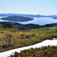 残雪残る美幌峠。