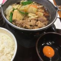 牛すき鍋定食@Sき家