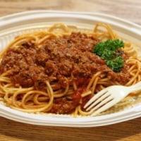 スパゲティミートソース&ヨーグルト