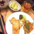 豆腐の蒲焼と玄米小豆粥