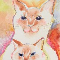 ネコに変身似顔絵