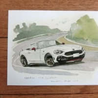 輸入車ディーラーの水彩画ポストカードを製作しました。