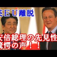 実は英国のEU離脱を全く予想していなかった安倍首相。投票日に安倍、菅、岸田各大臣が選挙応援で東京不在。