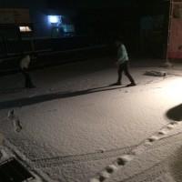 小野市も雪が…