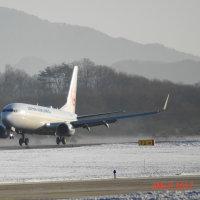 秋田空港 JAL161便