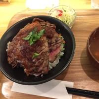 ステーキ丼!!