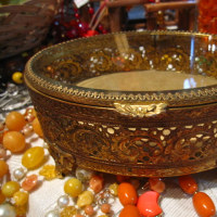 オーバル型ジュエリーボックス/Brass Jewelry Box