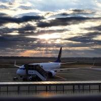 茨城空港からの朝陽
