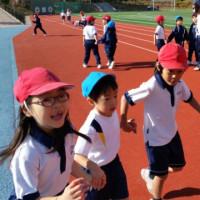 一年生と附属幼稚園の交流会