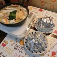 豆乳鍋&照焼きチキンサンド