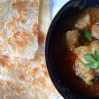 prata with chicken curry