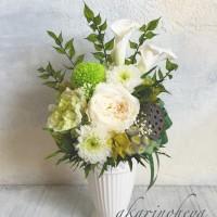 グリーンメインの仏花